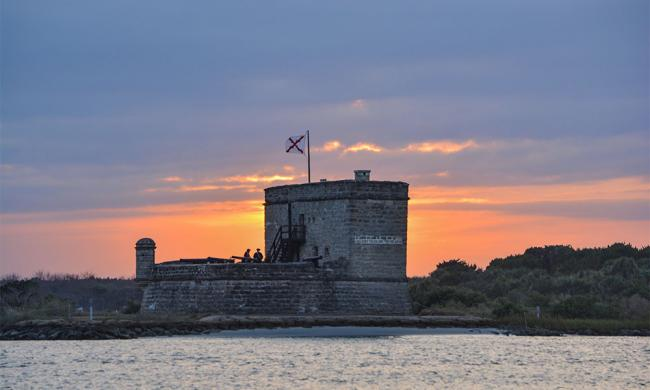 St. Augustine's Fort Matanzas at sunset