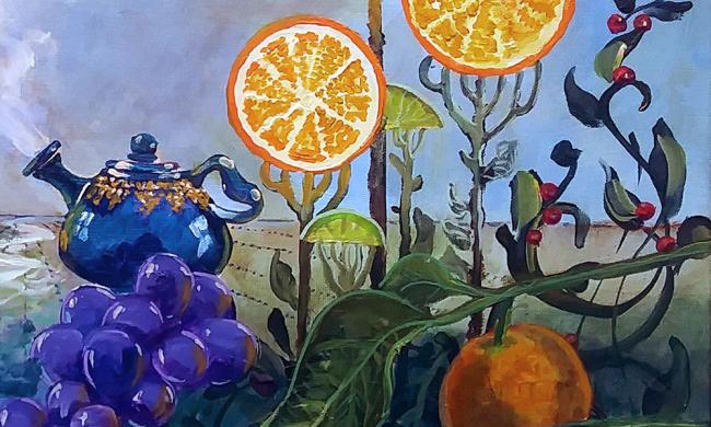 Art by Gary Garrett submitted for the Crazy Cuisines exhibit at St. Augustine Arts Association.