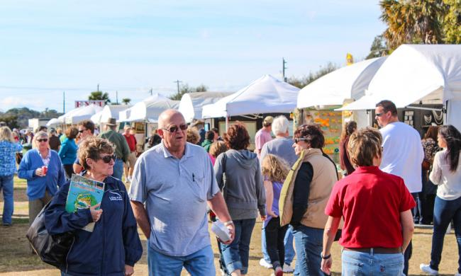 The Old Town Art Show is a popular event in the spring in St. Augustine.