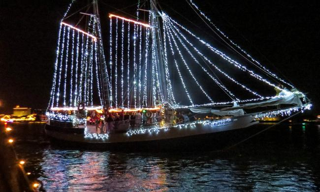St. Augustine's Regatta of Lights takes place annually on the second Saturday of December during the Nights of Lights Festival.