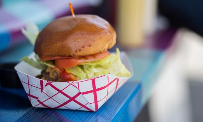 A burger ready for a food-truck customer, like food that can be found at Taste of Jacksonville in St. Augustine.