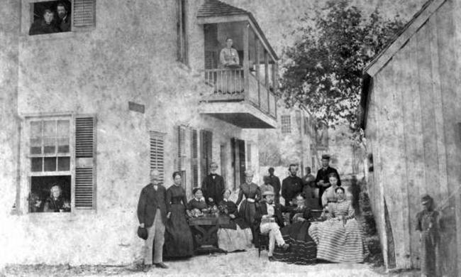 The Ximenez -Fatio house and some of the family and guests.