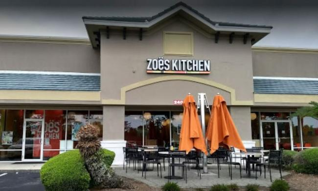 The exterior of Zoe's Kitchen in Merchant's Plaza in Ponte Vedra, north of St. Augustine.