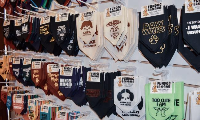 Dog Bandanas from Faux Paws in St. Augustine, Fl