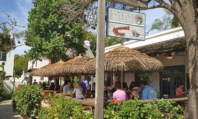 The Florida Cracker Café is located in the heart of St. Augustine' historic district.