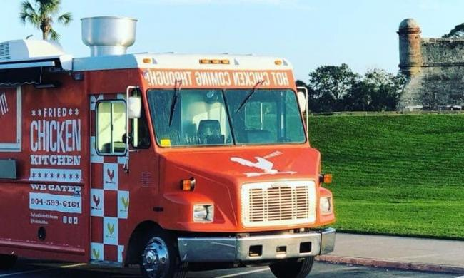 Fried Chicken Kitchen truck at the Castillo in St. Augustine.