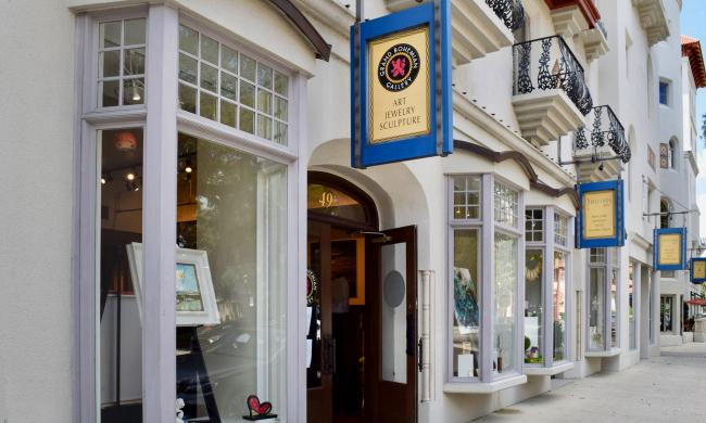 Gallery entrance of Grand Bohemian on King Street in St. Augustine, FL
