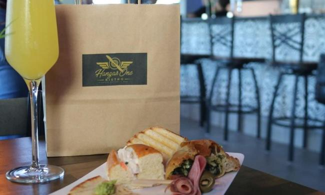 Lunch or brunch to eat in or take home, from Hangar One Bistro at the airport in St. Augustine.