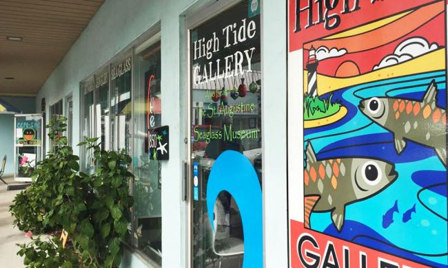 The entrance to the High Tide Art Gallery in St. Augustine.