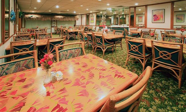 Holiday Isle Cafe open for breakfast and dinner during the summer season.
