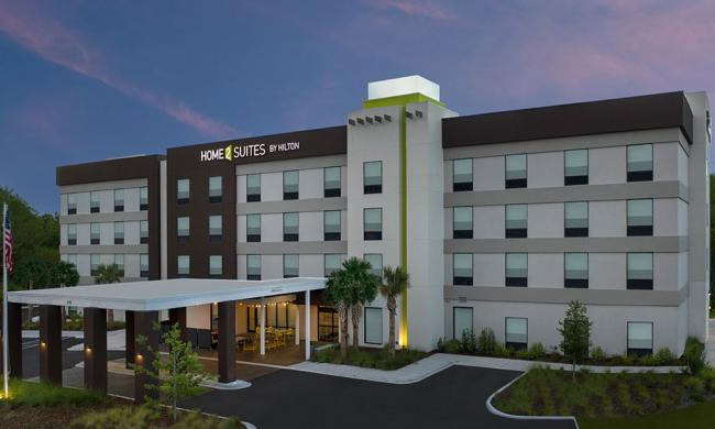The exterior of Home 2 Suites by Hilton in the S.R.16/I-95 area of St. Augustine.