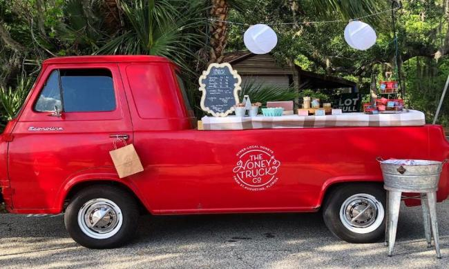 The Honey Truck Company at a pop up in St. Augustine, FL.