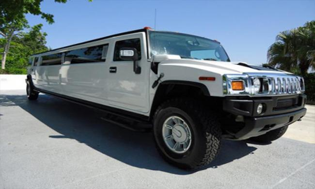 A Hummer limousine available for rent at Party Bus St. Augustine