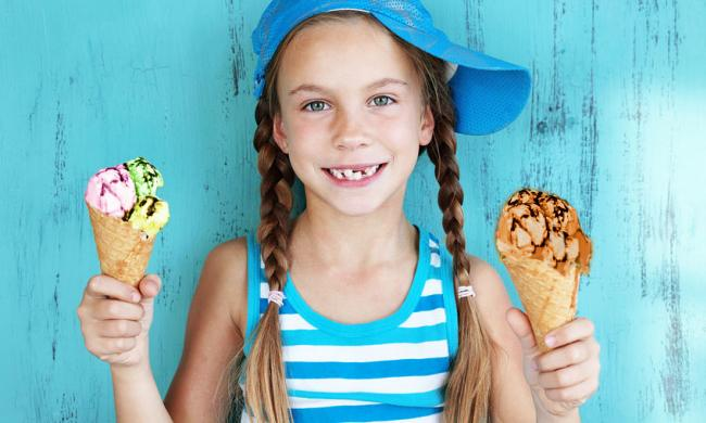 Kids can't resist an ice cream cone from Tedi's Olde Tyme Ice Cream in St. Augustine.