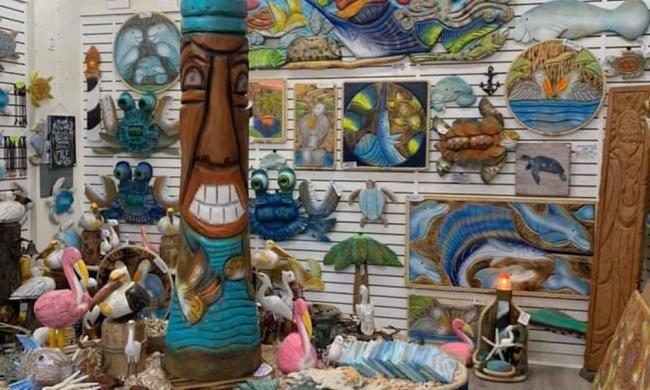 All of the sculptures and art pieces on display at Grover's Gallery in St. Augustine, FL