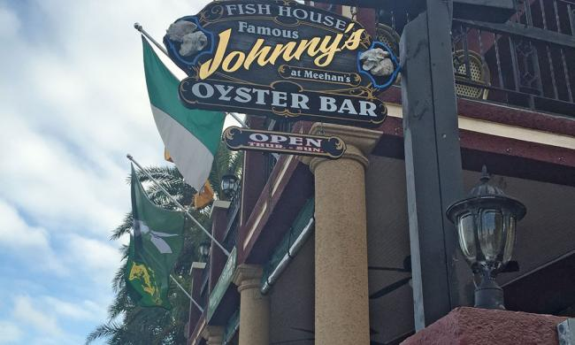 Johnny's Oyster Bar at Meehans on the bayfront in St. Augustine, Florida.