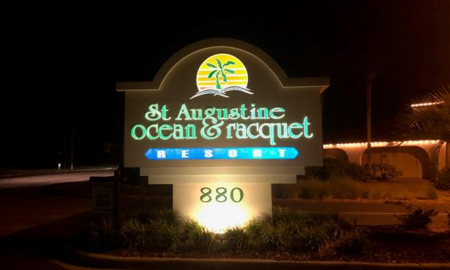 The Ocean & Racquet Resort on St. Augustine Beach, Florida.