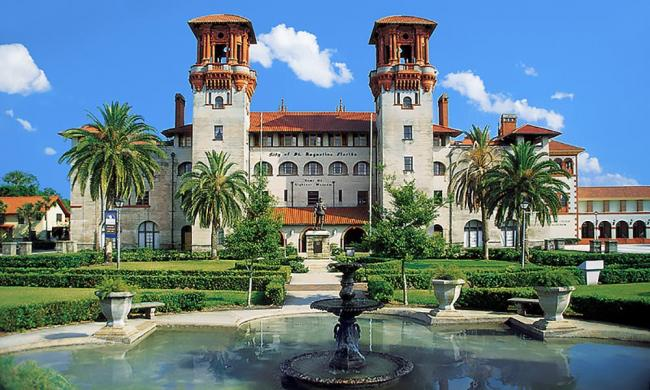 The Lightner Museum, home of the Courtyard Gallery in St. Augustine.