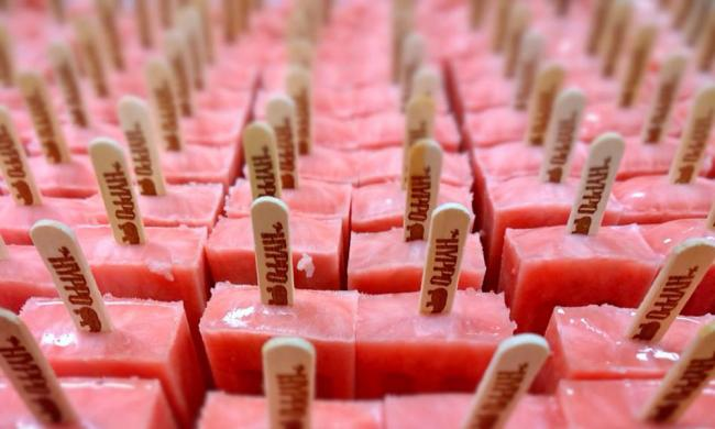 The Hyppo creates gourmet popsicles in a wide variety of flavors.