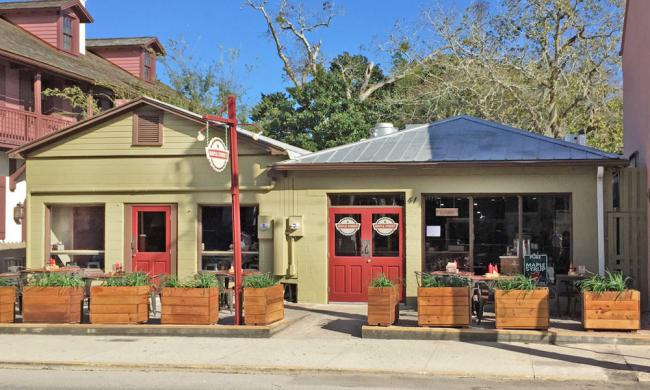 Maple Street Biscuit Company is located on Cordova St., in the heart of St. Augustine's historic district.