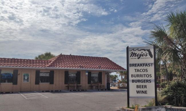 Mojo's on Vilano Beach serves freshly made tacos and burritos with their signature sauce.