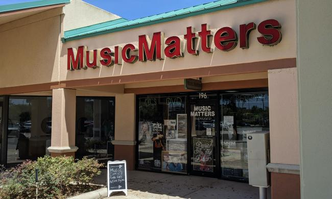 Outside Music Matters in St. Augustine, FL