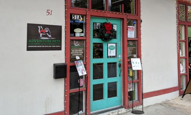 The entry to Adventure Pets at 51A Cordova Street in St. Augustine.