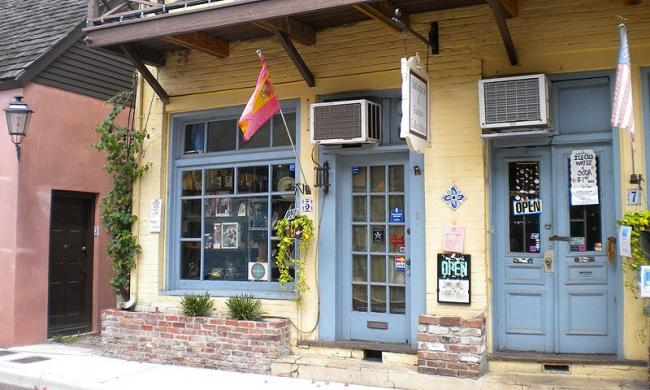 Step inside to Antiques and Uniques in historic St. Augustine.