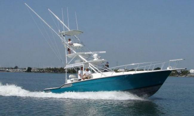 Off the Grid's custom 40' B&D sportfishing boat running out of St. Augustine.