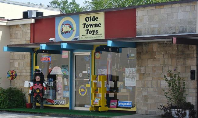 Olde Towne Toys is located at 113 King St. in St. Augustine. Florida.