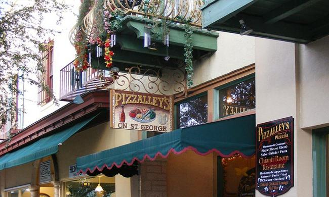 Pizzalley's is located in the heart of historic St. Augustine, Florida.
