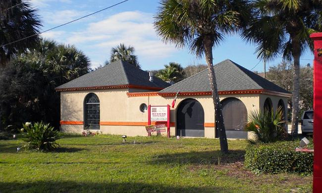 The restaurant of Playa Choc-Mool in St. Augustine.
