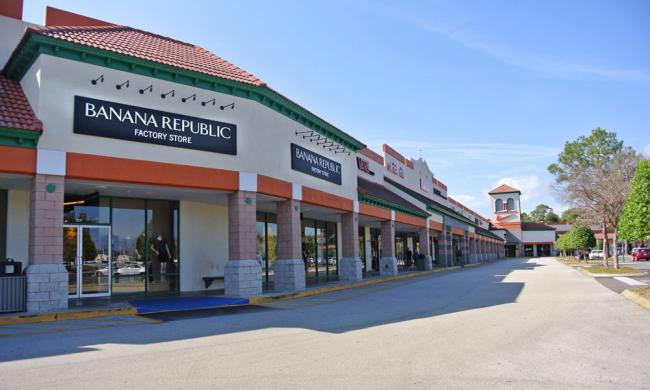 The St. Augustine Premium Outlets features 85 designer and name-brand stores.