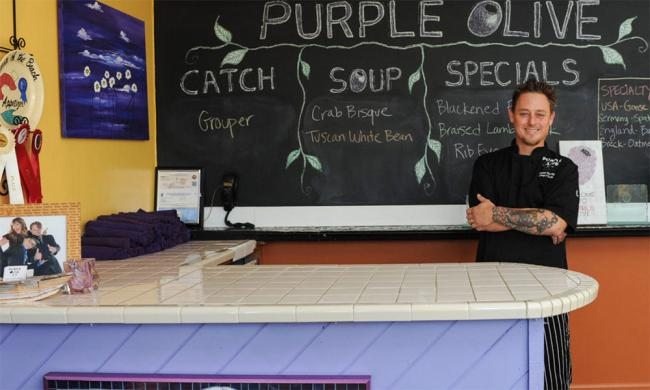 Purple Olive Bistro and Chef Peter Kenney in St. Augustine.