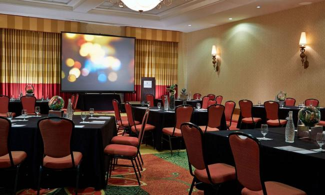 Meeting room for corporate gatherings and conferences at the Renaissance Resort.