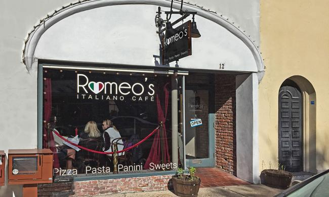 Romeo's Café Italiano is located in the heart of downtown St. Augustine.