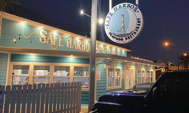 The Safe Harbor Seafood Restaurant at Crescent Beach in St. Augustine.