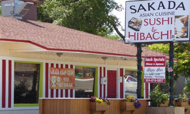 Sakada Asian Cuisine in St. Augustine, Florida, serves a variety of Asian dishes.