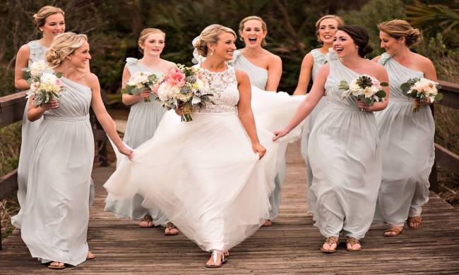 A Sarina Durden Beauty bridal party in St. Augustine, Florida.