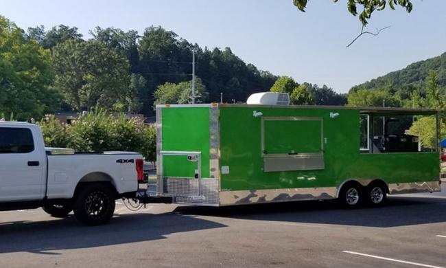 The Saucey Pig Food Truck ready to feed the public and catered events in St. Augustine.