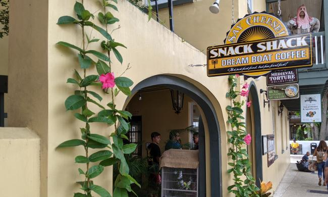 Say Cheese! Dreamboat Coffee Snack Shack offers cheesy treats, coffees, teas, and lemonade in St. Augustine.