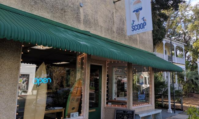 The entrance to St. Augustine Scoop on San Marco in St. Augustine.
