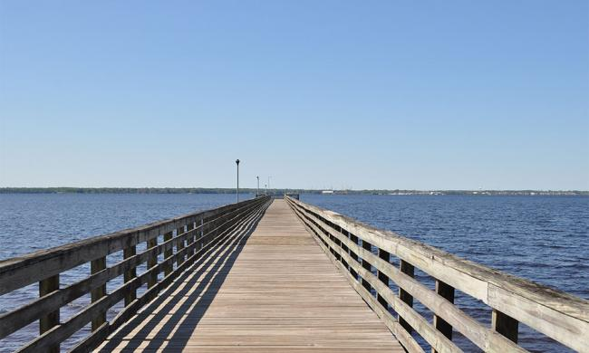 Shands Pier is a popular fishing spot on the St. Johns River west of St. Augustine.