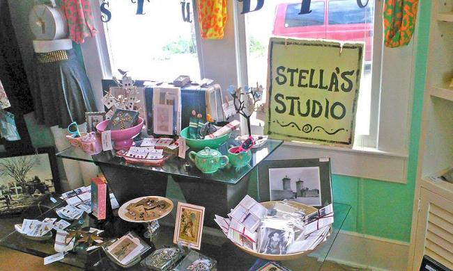 An assortment of hand-selected items at Stella's Studio on Anastasia Island.