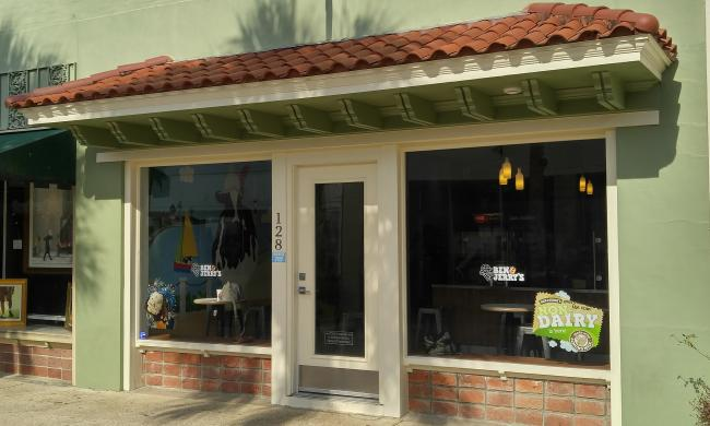 Ben and Jerry's store front in St. Augustine, Fl