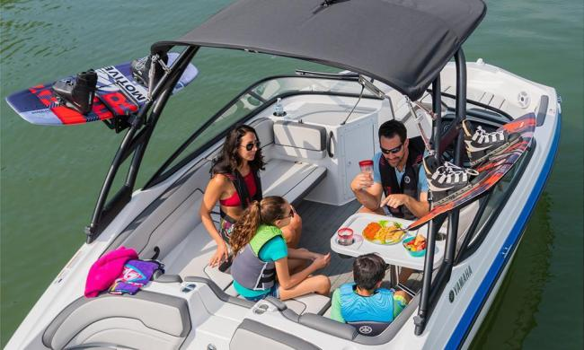 Summer Breeze Boat Rental tubing with kids