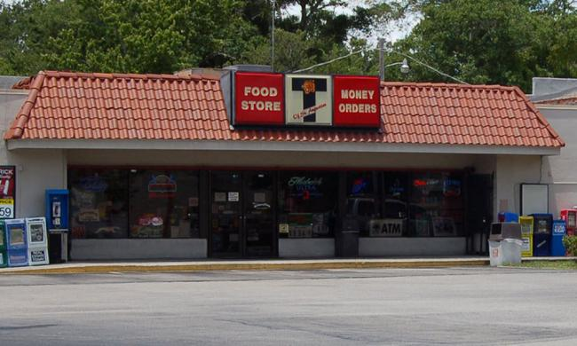The front of Tiger 11, a locally owned convenience store in St. Augustine.