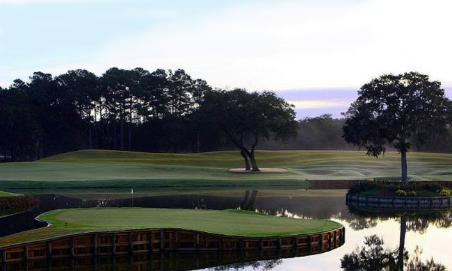 A view of one of the holes at TPC Sawgrass, north of St. Augustine.