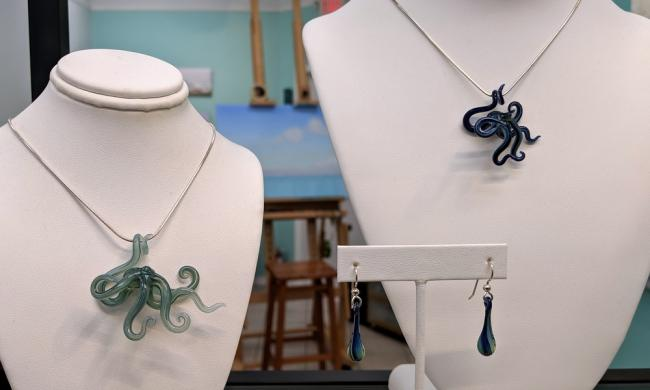 Jewelry that reflects artist Tracy Womack's love of the sea can by found at Dauphin Gallery in St. Augustine.