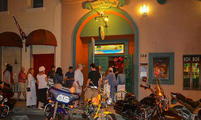 Tradewinds Lounge on Charlotte Street in historic downtown Saint Augustine, Florida.